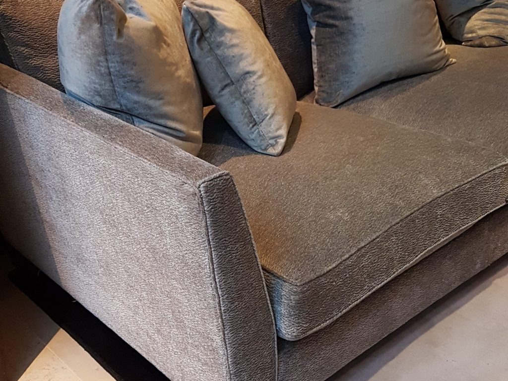 7ft sofa cover red and black set repair - hill upholstery & design