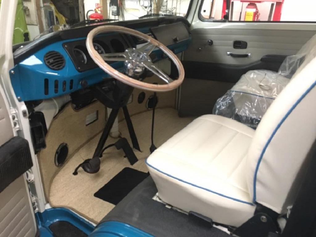 VW campervan reupholstery- Hill Upholstery & Design