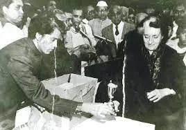 Parashar Gaur with Prime Minister Indira Gandhi