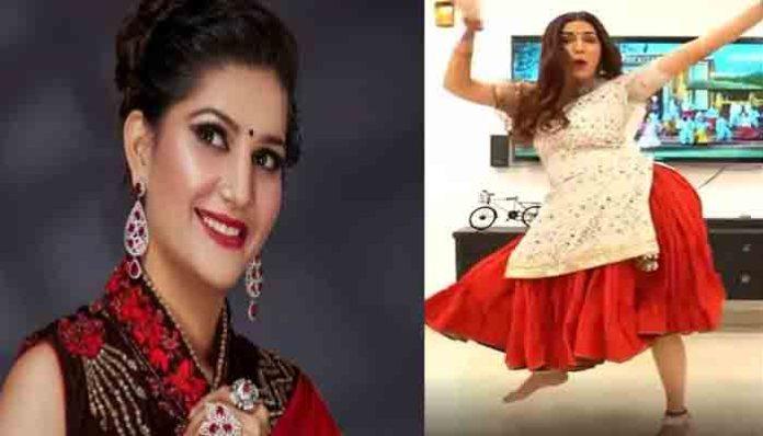Sapna Choudhary ने घागरा पहनकर किया जबरदस्त डांस,सोशल मीडिया पर वीडियो वायरल।