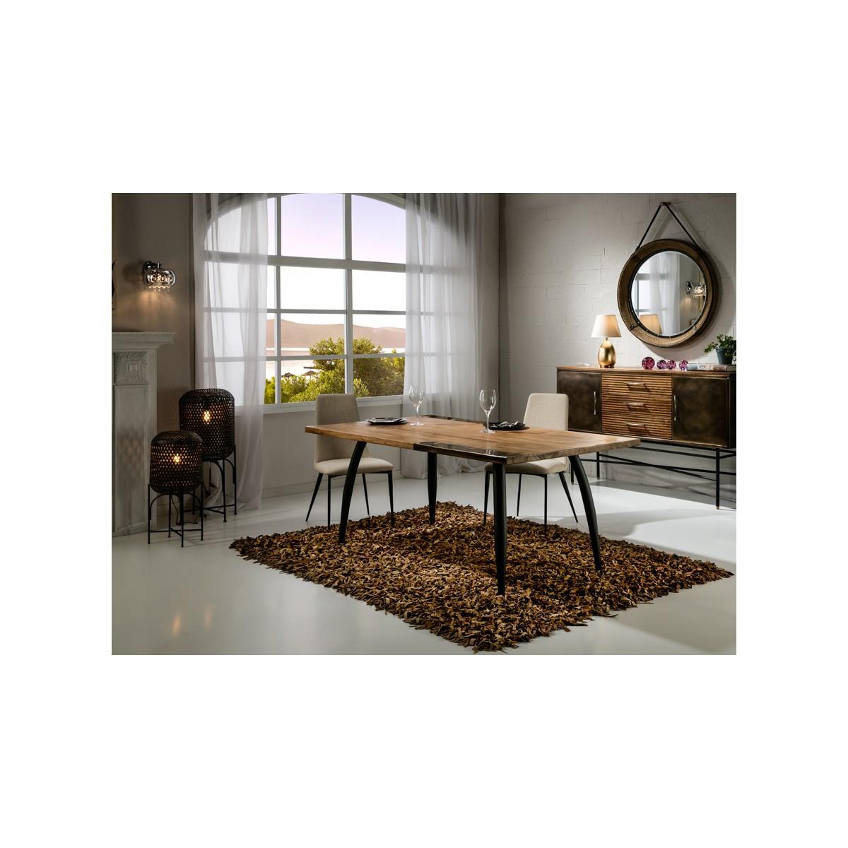 Mesa de comedor estilo industrial decoracin latn  DRESDE