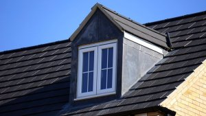 House roof with attic window