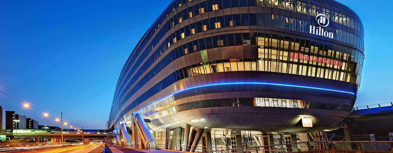 Hilton Frankfurt Airport in gebouw van THE SQUAIRE
