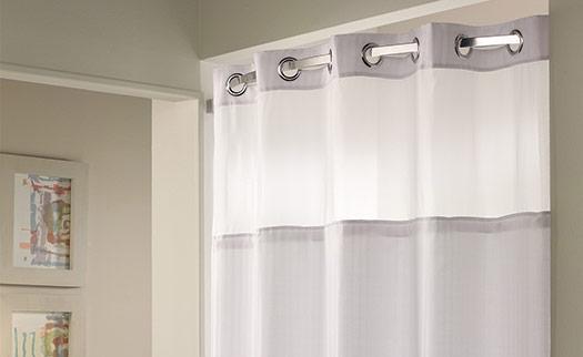 Herringbone Hookless Shower Curtain  Hilton to Home
