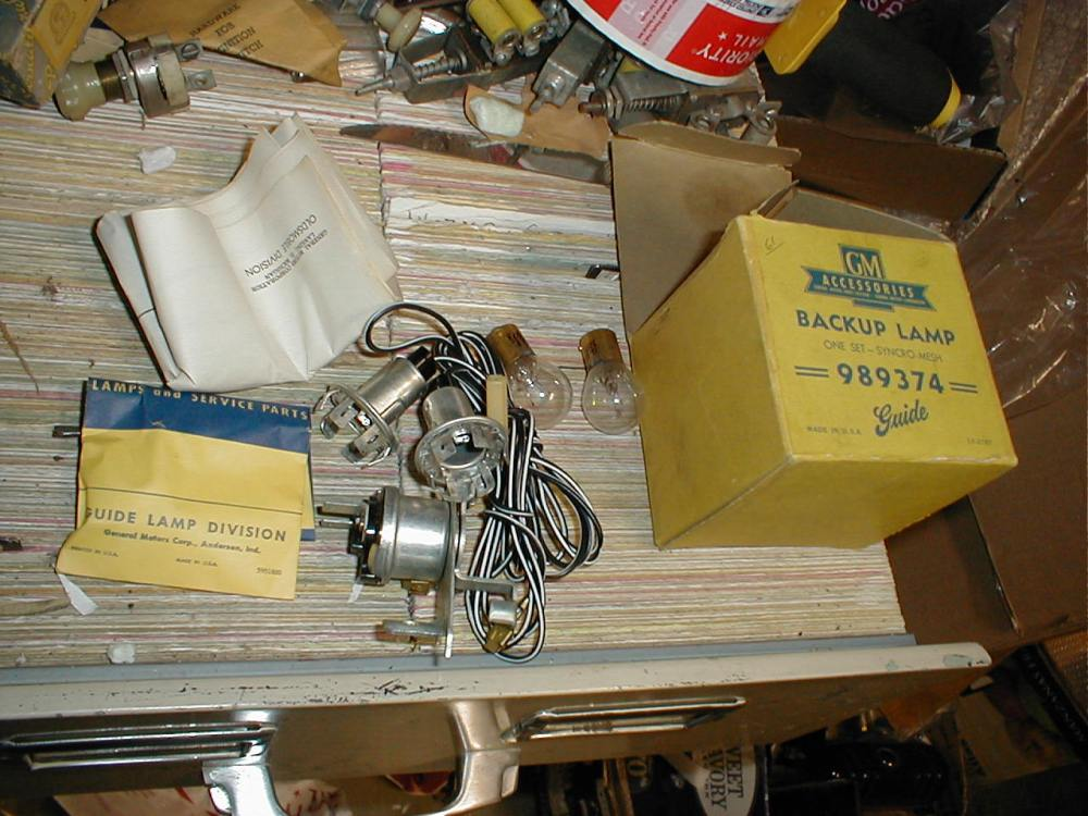 medium resolution of nos gm back up lamps wiring 1961 oldsmobile with syncromesh gm989374