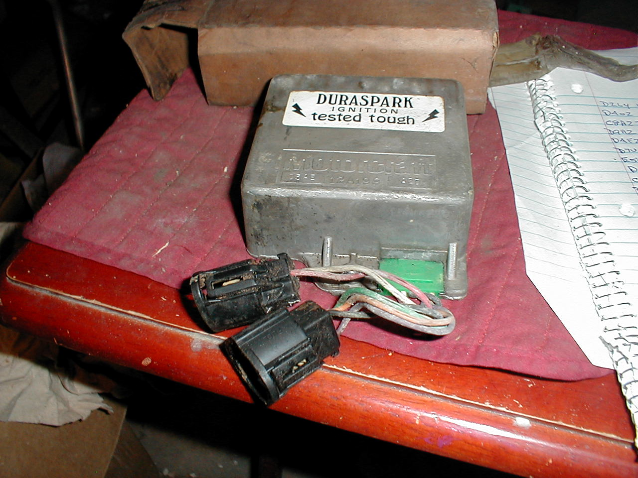hight resolution of nos ford ignition module 1974 5 ford lincoln mercury green grommet d5az12a199c