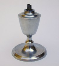 An Unmarked American Pewter Whale Oil Lamp