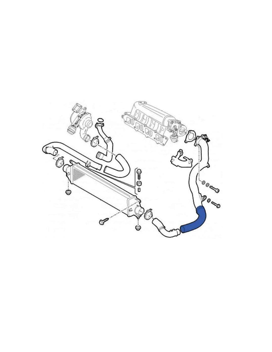 Tubo Manicotto Intercooler Aspirazione Fiat Bravo II 198 1