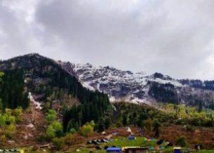 View from camp at Kheerganga