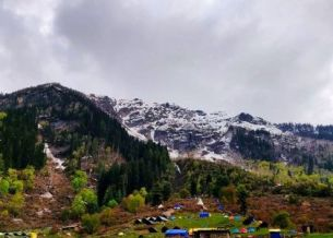 View from camp at Kheerganga