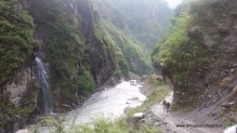 Waterfalls abounded, and so did suspension bridges
