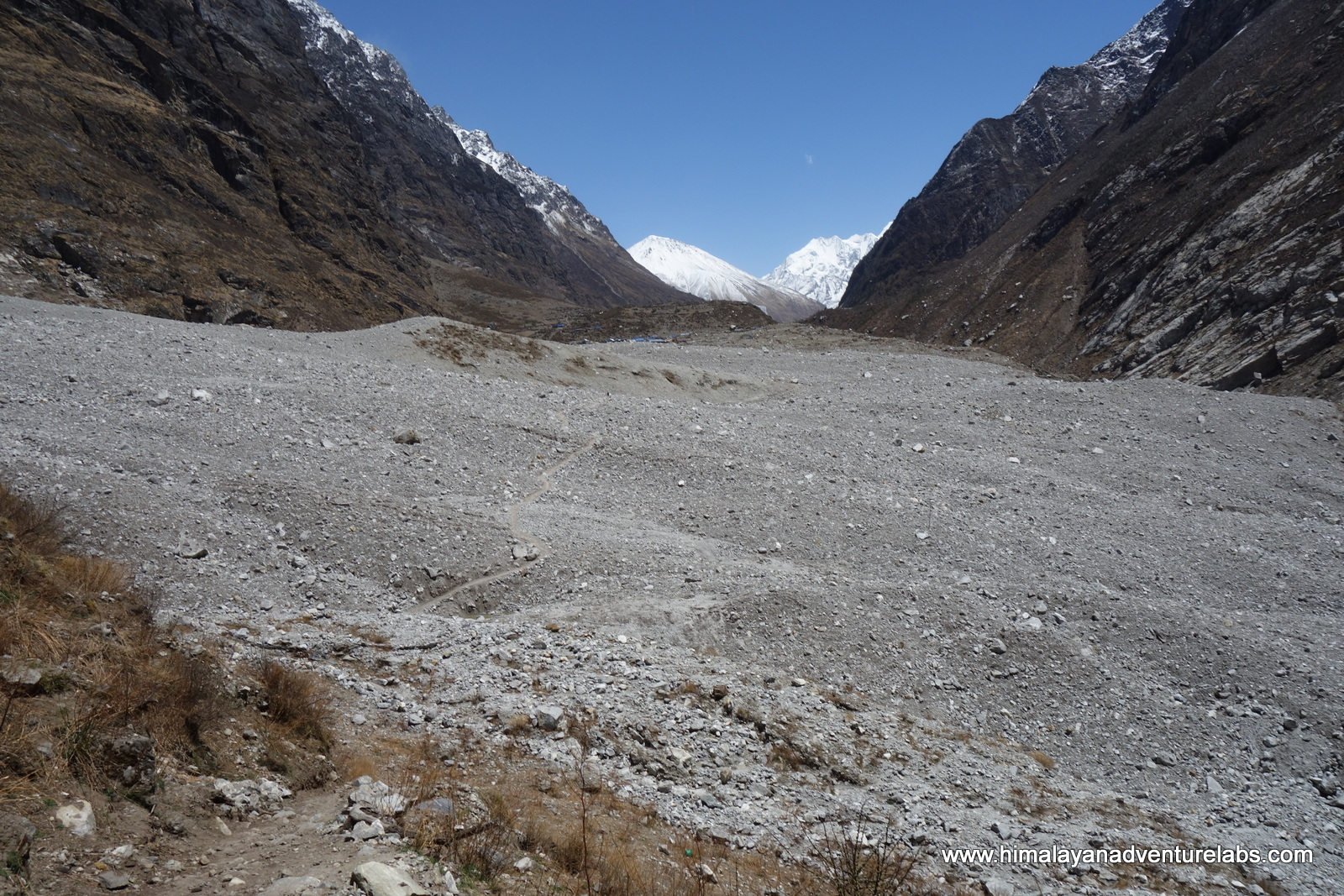 Where the former village of Langtang once stood