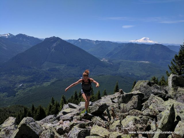 Stephanie scouting on ridge to Teneriffe
