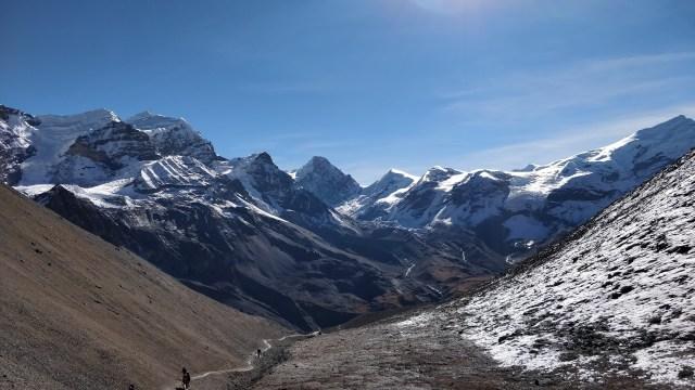 View of Chulu Range nearThorung Pass