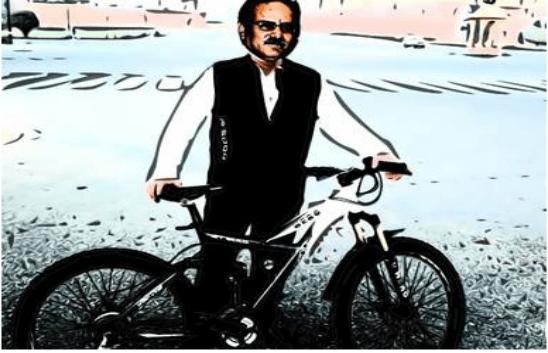 prachanda in bycycle