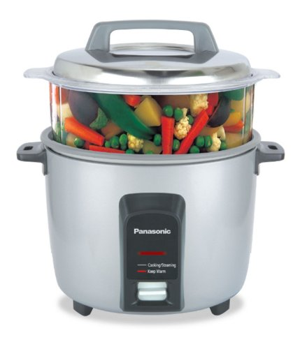 Panasonic SR-Y18FHS 660-Watt Automatic Electric Cooker 4.4 Litre with Non Stick Cooking Pan & Steamer