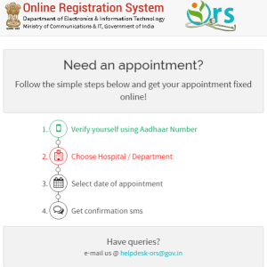 e-hospital Appointment booking steps