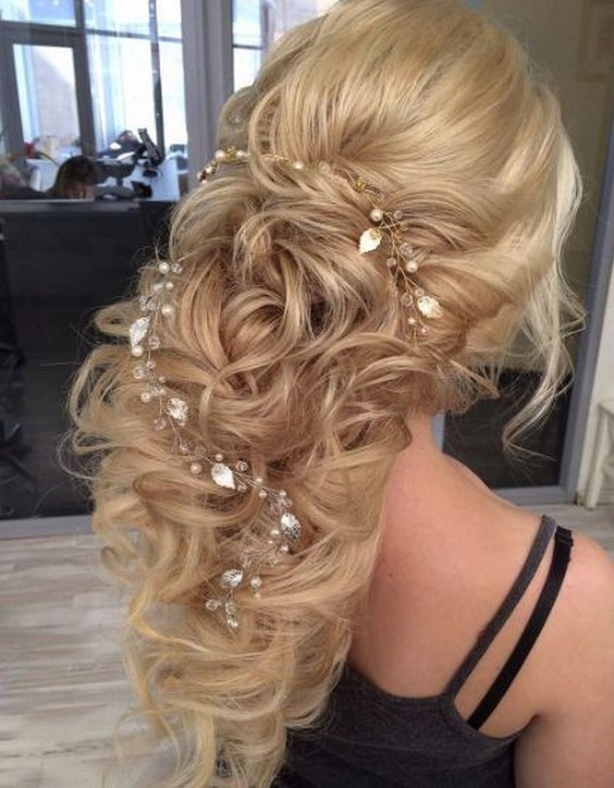 45 Most Romantic Wedding Hairstyles For Long Hair  Hi Miss Puff