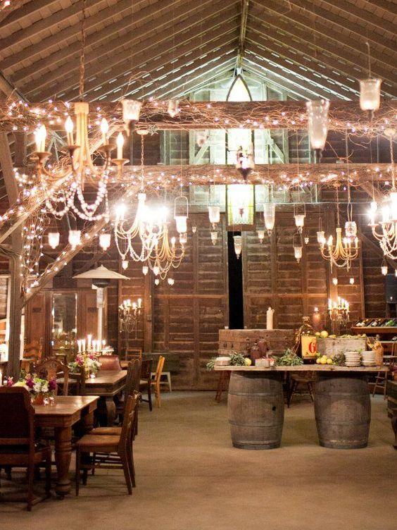 100 Stunning Rustic Indoor Barn Wedding Reception Ideas  Page 2  Hi Miss Puff