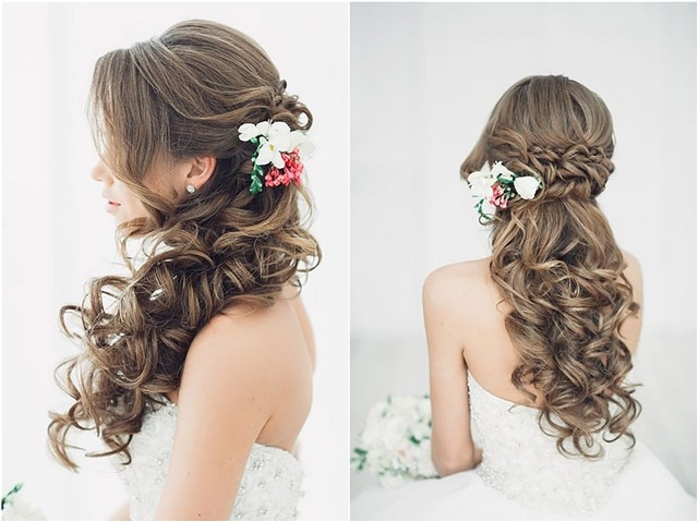 20 Creative Half Up Half Down Wedding Hairstyles Hi Miss Puff