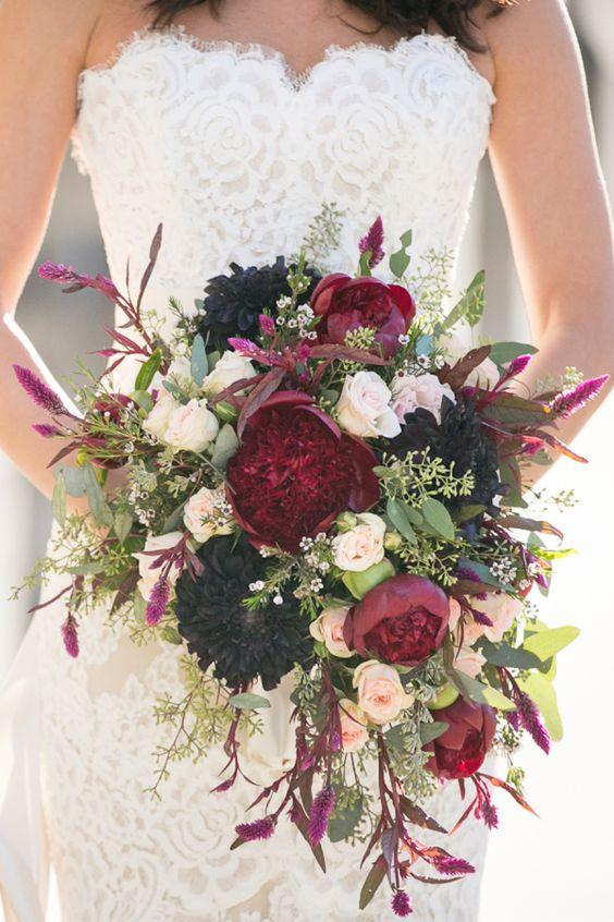 40 Burgundy Wedding Bouquets for Fall  Winter Wedding  Hi Miss Puff