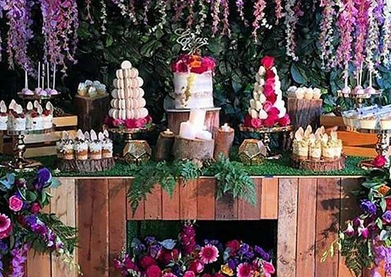 55 Amazing Wedding Dessert Tables  Displays  Hi Miss Puff