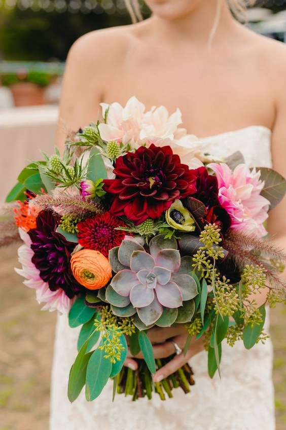 50 Fall Wedding Bouquets for Autumn Brides  Hi Miss Puff