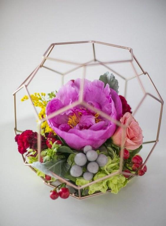 50 Glam Geometric  Terrarium Wedding Ideas  Page 6  Hi Miss Puff