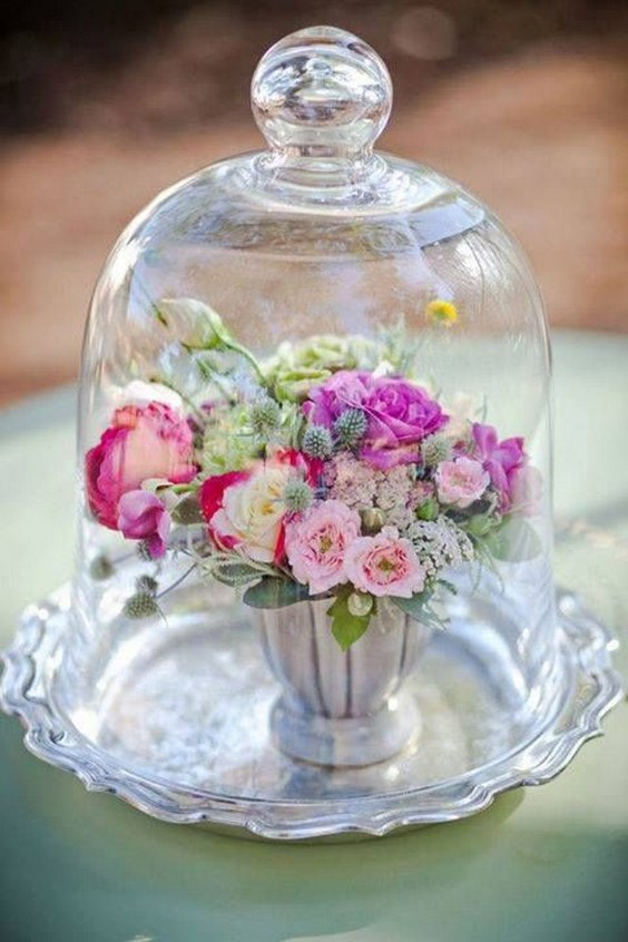 55 Gorgeous Glass Cloche Bell Jar Wedding Ideas  Page 9