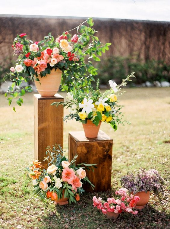 60 Unique Ways To Use Potted Plants In Your Wedding Hi