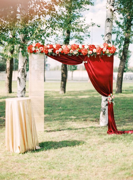 40 Outdoor Fall Wedding Arch and Altar Ideas  Page 2  Hi Miss Puff