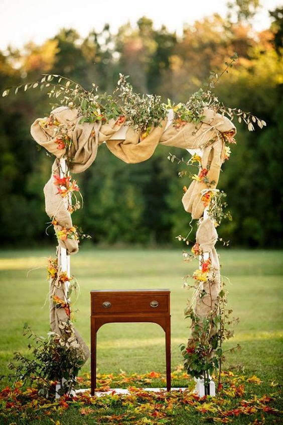 40 Outdoor Fall Wedding Arch And Altar Ideas Page 5 Hi