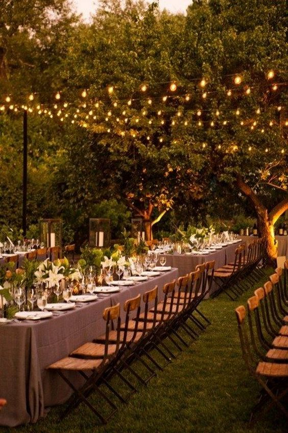 65 Breathtaking String Bistro Lighting Wedding Ideas You Must See  Page 3  Hi Miss Puff