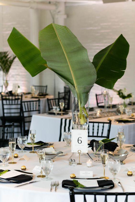 50 Green Tropical Leaves Wedding Ideas Hi Miss Puff