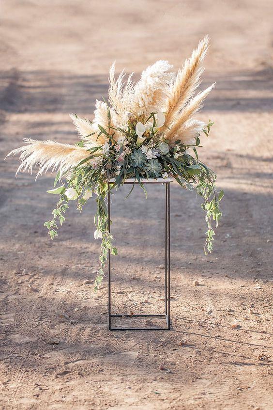 Wedding Trend 30 Boho Pampas Grass Wedding Ideas Page 5