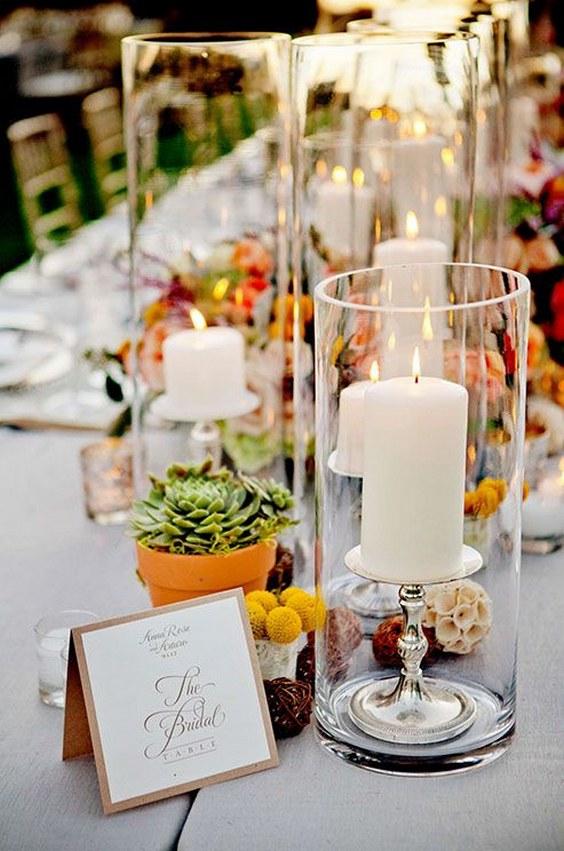 40 Glass Cylinder Wedding Centerpiece Ideas  Page 4  Hi Miss Puff