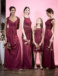 55 Burgundy Bridesmaid Dresses for Fall Winter Weddings ...
