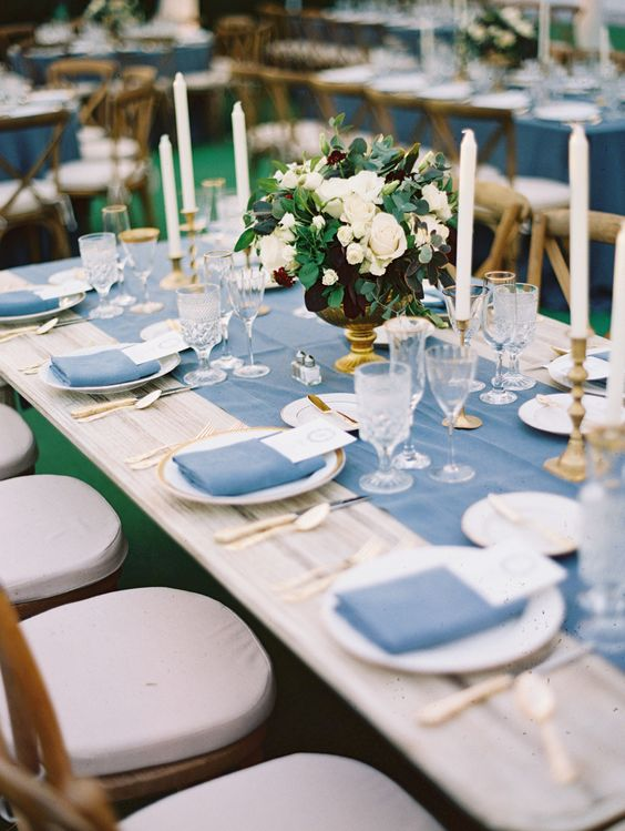 Top 20 Classic Romantic Dusty Blue Wedding Decor Ideas Page 2 Hi Miss Puff