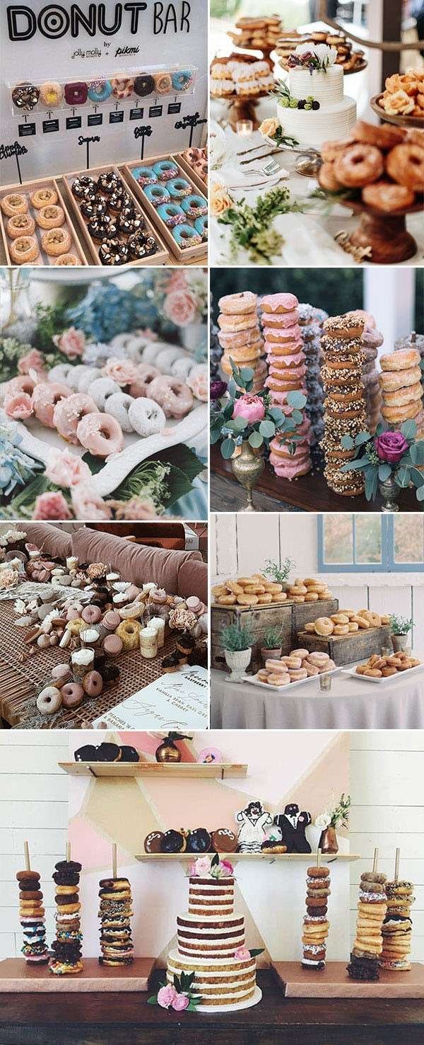 Wedding Trend 2019 Donuts Bar Donuts dessert display