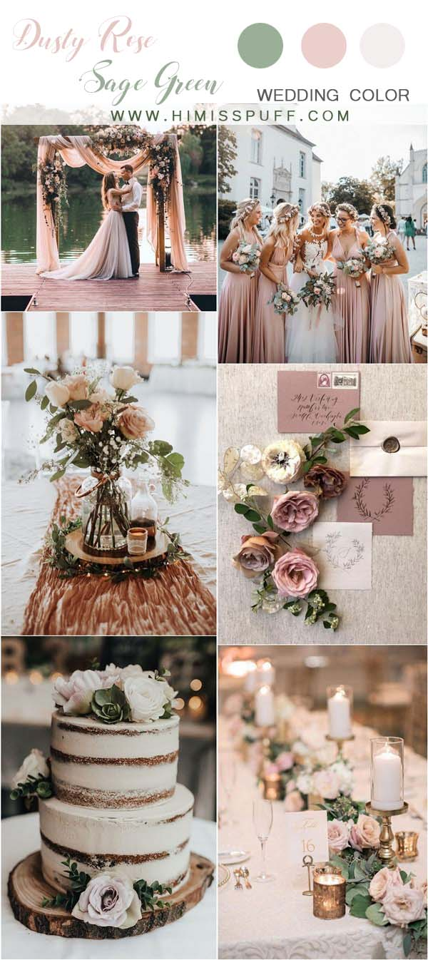 25 dusty rose and sage green wedding color ideas page 2, love color pages