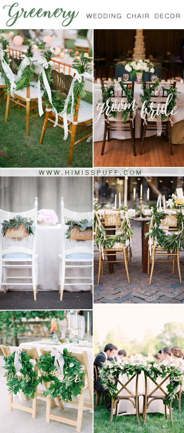 greenery couple chair decoration and accessories ideas