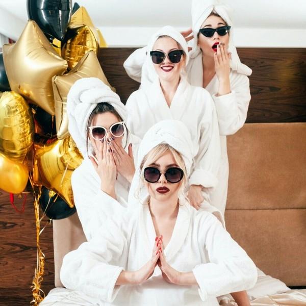 funny pre wedding photo idea with your bridesmaids