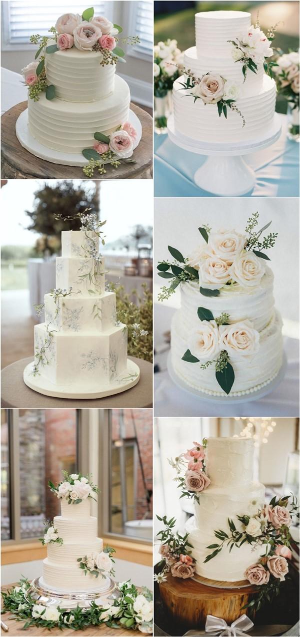 budget friendly elegant simple wedding cakes