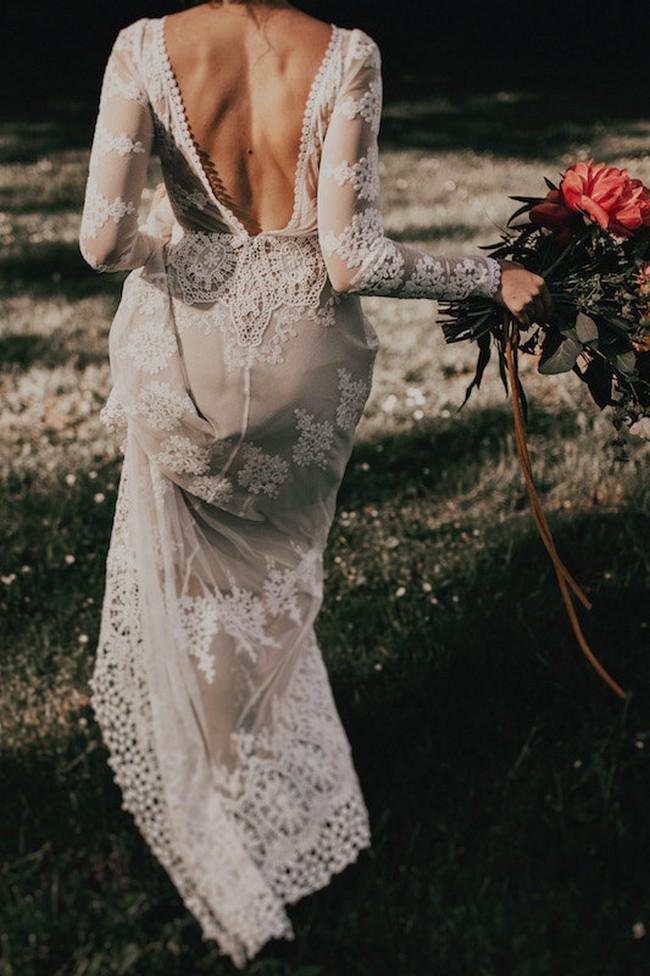 A FAVORITE Lisa Lace Bohemian Wedding Dress2