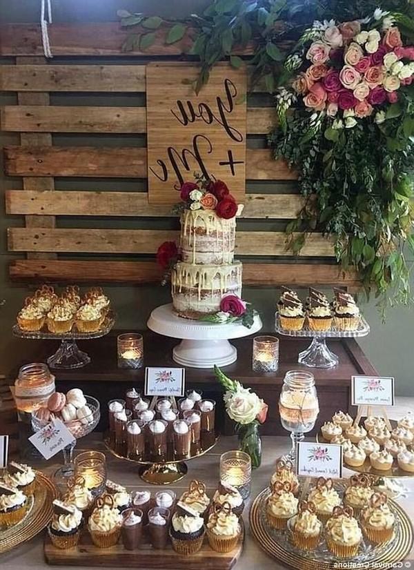 20 Rustic Wedding Dessert Table Display Ideas For 2020