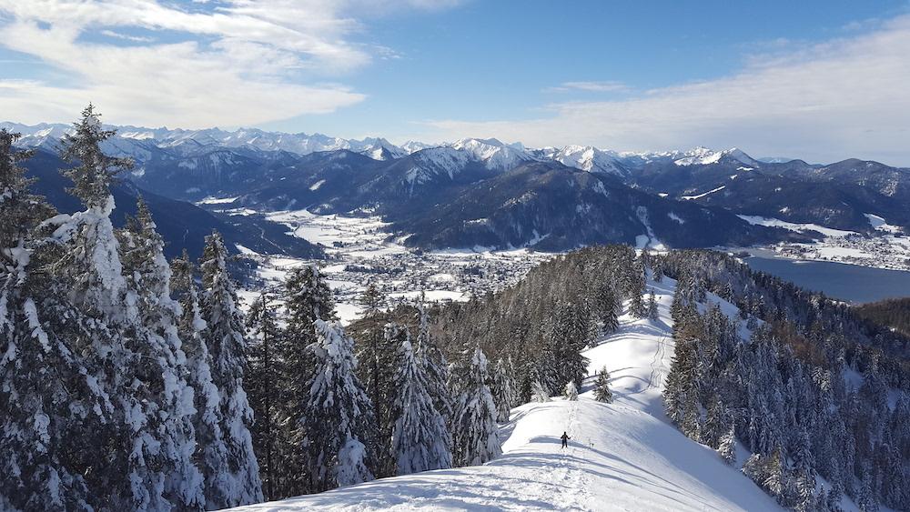 Winter am Gipfel des Baumgartenschneid