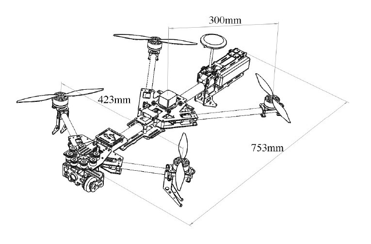 Alien Copter Quadcopter/ Four-rotor FPV Kit W/ 3-axis