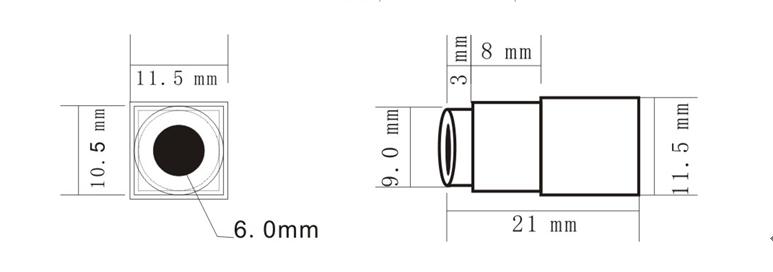 FPV 520 Line Super Light 4g CMOS Camera MC900D-V9 PAL