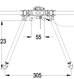 hmf y600 3 axis tricopter multi rotor frame kit high landing gear w gimbal hanging rail [ 1177 x 683 Pixel ]