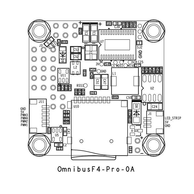 OMNI F4 Pro V2 Flight Control with OSD/ BEC Betaflight
